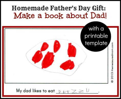 printable gift certificates for dad homemade father s day gift from kids a book about dad