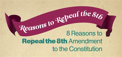 8 Reasons To The by 8 Reasons To Repeal The 8th Amendment Abortion Rights