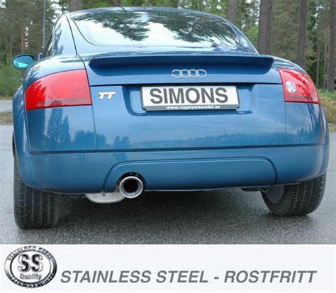Audi Tt 8n Auspuffanlage by Simons Edelstahl Sport Auspuffanlage 1x100 Mm Rund F 252 R