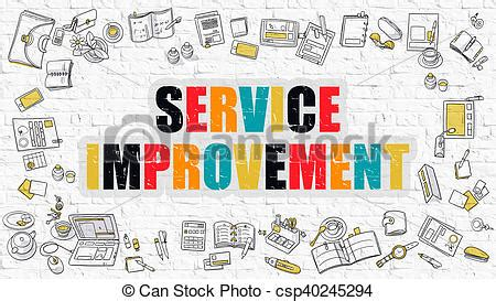 doodle graphic design services stock illustration of service improvement in multicolor