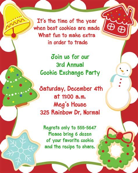 christmas cookie invitations