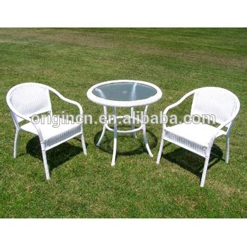 white wicker bistro chairs 2 seater european style white wicker table and chair