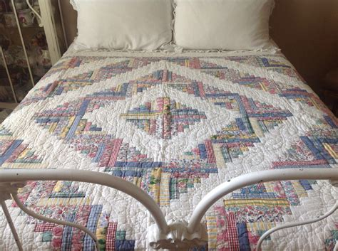Farmhouse Quilt by Vintage Farmhouse Cottage Beautifully Patterned Quilt