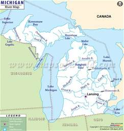 Michigan In World Map by Grand River Michigan Map Submited Images