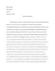 Class Essay by Class Reflection Essay 101 With Knutson At Arizona State Tempe
