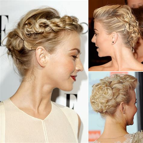 how to the famous julianne hough updo julianne hough s best hairstyles and updos popsugar