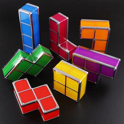 Diy Led Desk L Diy Tetris Constructible Desk L Retro Blocks Stackable Led 3d Light
