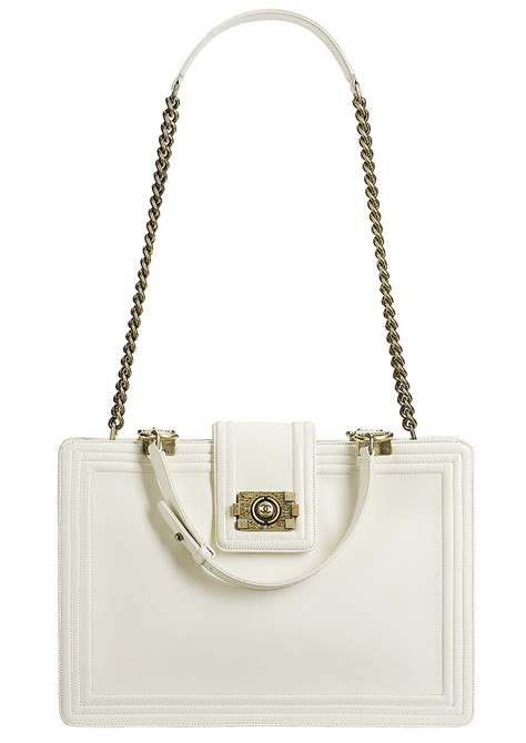 Chanel Boy Bag gwen stefani with chanel white boy bag tote from fall 2011 collection spotted fashion
