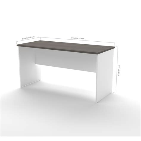 bestar innova u desk with hutch in white and antigua innova u shaped desk with accessories in white and antigua