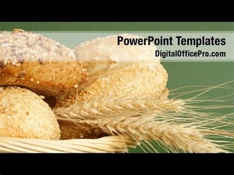 powerpoint themes bread bread and wheat powerpoint template backgrounds