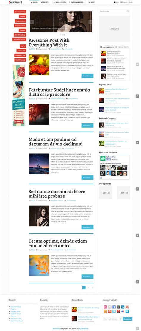sensational theme 20 best adsense optimized wordpress themes 2018