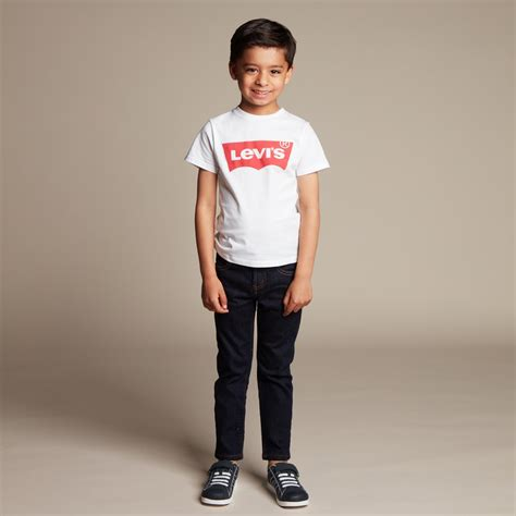 levi s boys white logo t shirt childrensalon