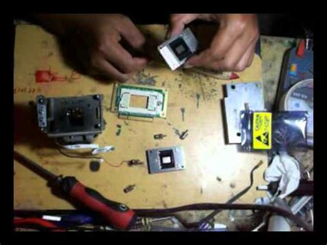 how to fix white spots dlp projector display, benq youtube