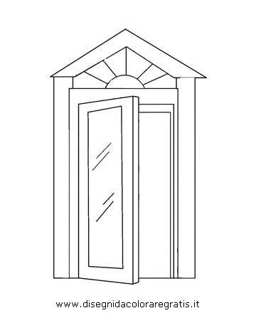 porta da colorare disegno porta 02 da colorare