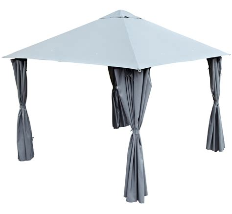 gazebo b q blooma shamal grey gazebo departments diy at b q