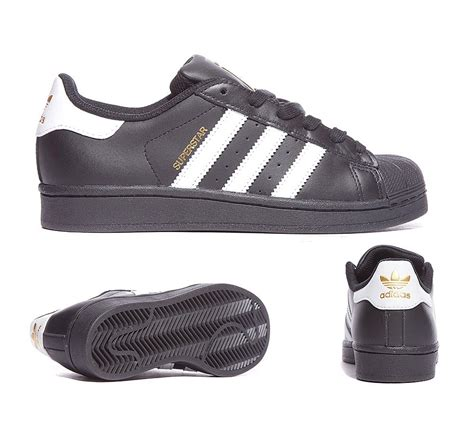 Adidas Superstar Foundation White Stripe Black adidas originals junior superstar foundation trainer black white footasylum