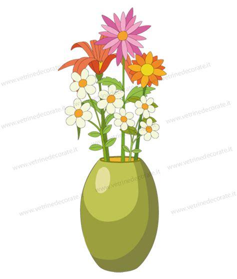 fiori color verde vaso verde con fiori di vari colori