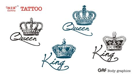 king queen crown tattoos crown on pilot ed hardy