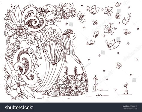 anti stress colouring book doodle and vector illustration zen tangle stock vector