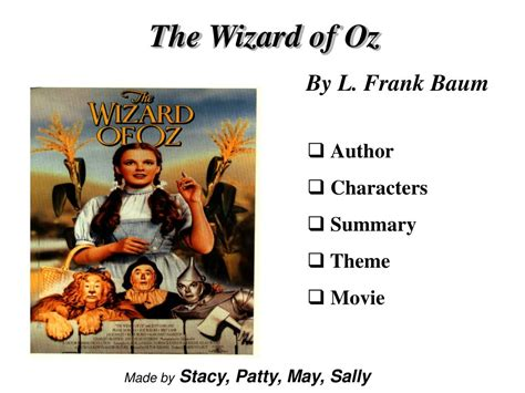 Ppt The Wizard Of Oz By L Frank Baum Powerpoint Presentation Id 365269 Wizard Of Oz Powerpoint Template