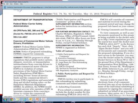 49 cfr section 390 5 hni u fmcsa update