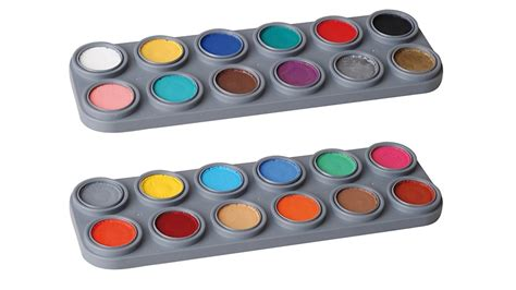 Bodypaint Palette grimas water make up 24 farben palette bodypainting farbe
