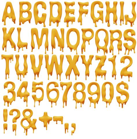 typography and lettering melting font alphabet yellow typography and lettering typography fonts