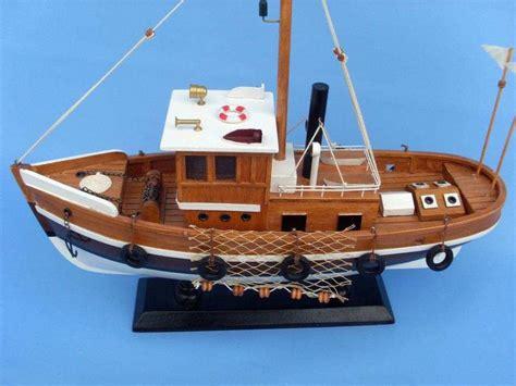 fishing boat model buy wooden knot working model fishing boat 16 inch model