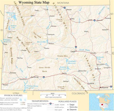 us map showing wyoming us map wyoming bnhspine