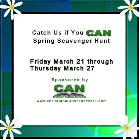 catch us if you can catch us if you can spring scavenger hunt sherry kyle
