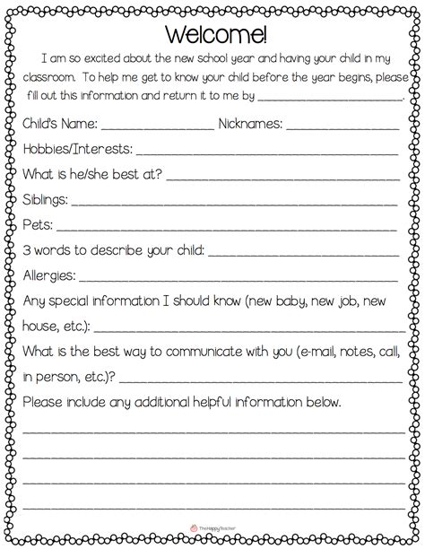 Parent Letter Home Day School Thehappyteacher Back To School Communication Meet The