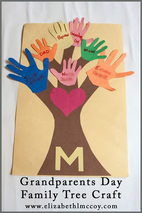 grandparents day crafts for to make grandparents day family tree craft homeschool
