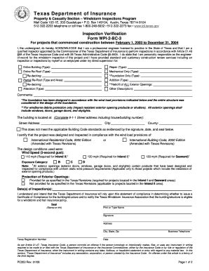 fillable  tdi texas inspection verification form