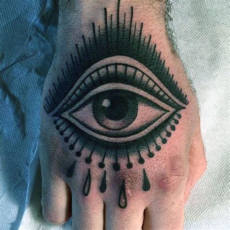 traditional tattoo hand eye 60 traditional hand tattoo designs for men retro ideas