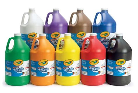 acrylic paint is it washable crayola 174 washable paint gallon