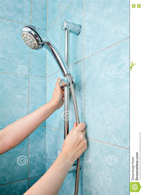 How To Tighten Shower Holder by Up Of Human Adjust The Height Holder Shower