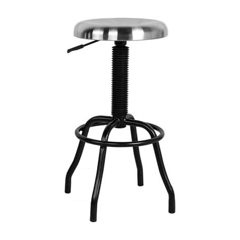 Industrial Style Bar Stool Buy Silver And Black Industrial Style Bar Stool From Fusion Living
