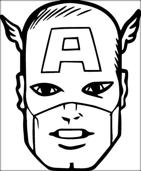 superhero shield coloring page captain america face coloring pages www pixshark com