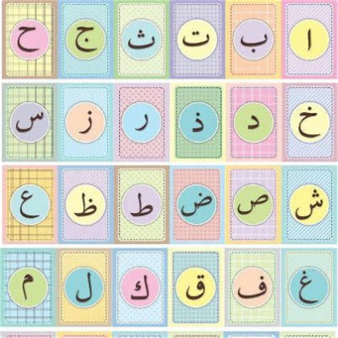 arabic alphabet with pictures flashcards printable fabulous motherhood qaiser darussalam publications