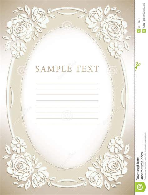 wedding invitation frame rose royalty free stock