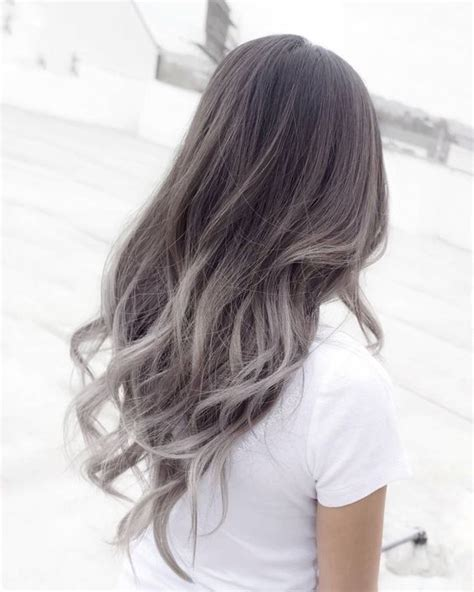 silver and brown hair style 35 soft subtle and sophisticated sombre hair color ideas