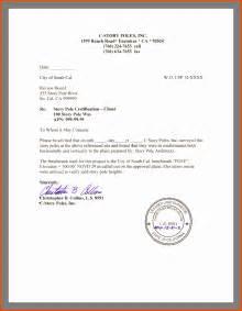 letter sample certified letter example certified letter