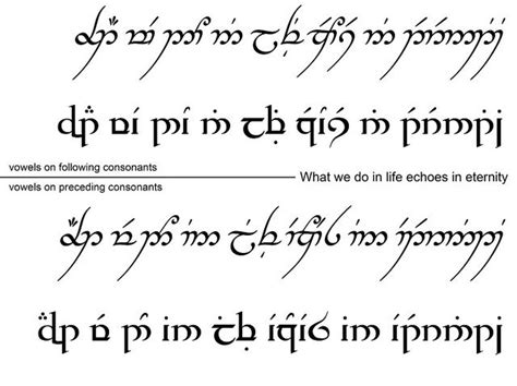 tattoo fonts languages 130 best elven images on middle earth hobbit