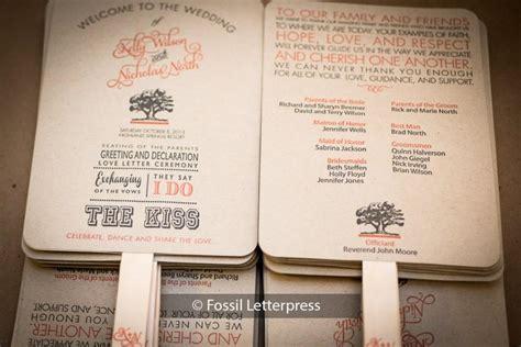 paper fan wedding programs kraft paper wedding program fans order of service fans