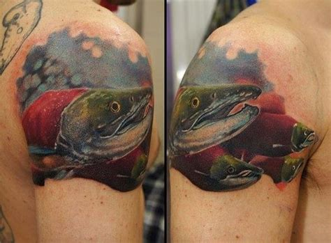 steelhead tattoo salmon on