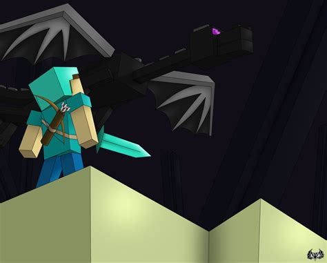 ender and enderdragon in minecraft www imgkid the image kid