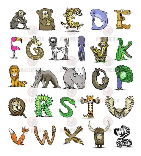 Printable Animal Shaped Letters | animal shaped letters activity shelter