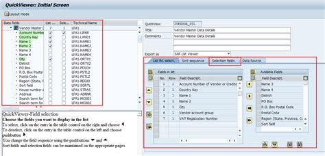 query layout design sap sap query creation execution table join logical