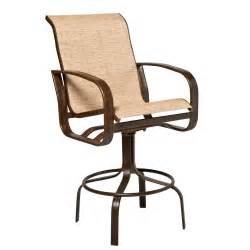 woodard 2fh468 cayman isle sling outdoor swivel bar stool