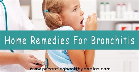 15 home remedies for bronchitis in children